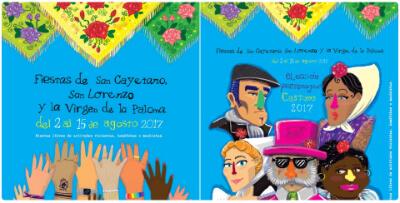 Cartel Fiestas San Cayetano, San Lorenzo y La paloma 2017