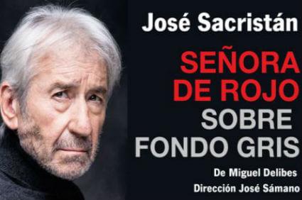 Vamos Al Teatro Señora De Rojo Sobre Fondo Gris La Fisgona